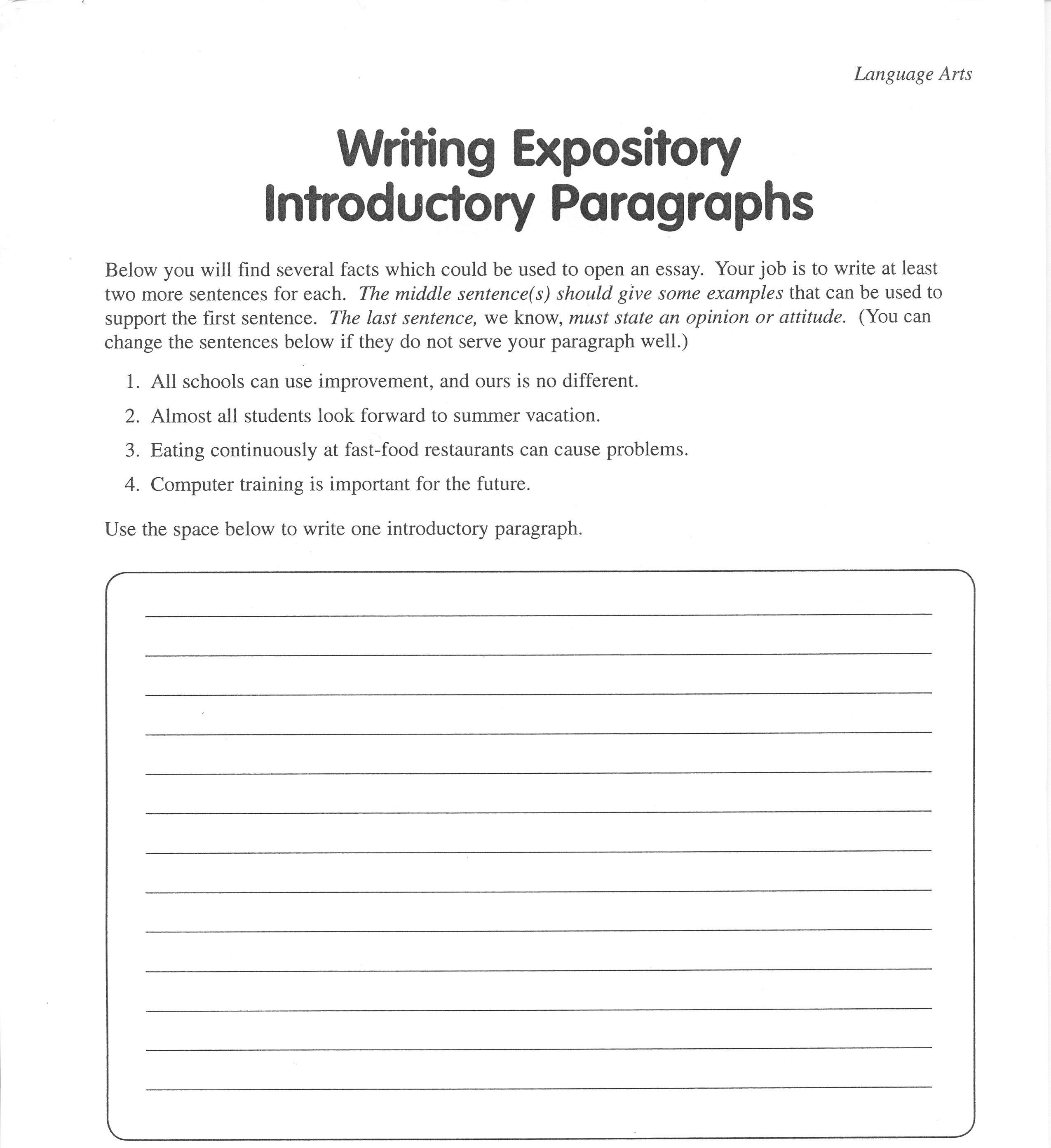 Essay help introduction paragraph